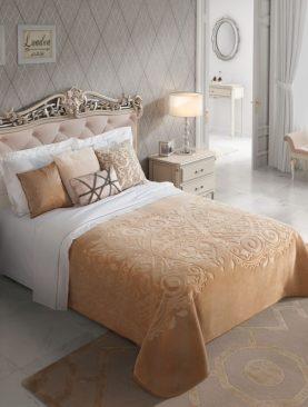 Cuvertura pat eleganta bej 5607 Spania 220x240 cm