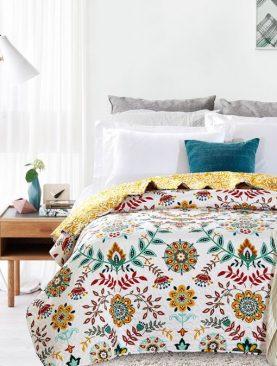 Cuvertura pat fetite flori colorate Antonella 7794 180x270 cm