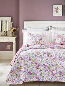 Cuvertura pat fetite flori rosii Candy Rosa 7797 180x270 cm