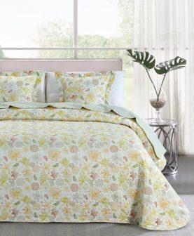 cuvertura pat dormitor galben