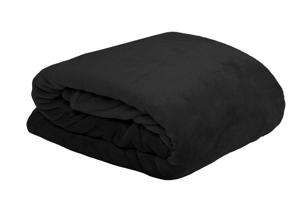 cuvertura pat neagra Doudou 220×240 cm