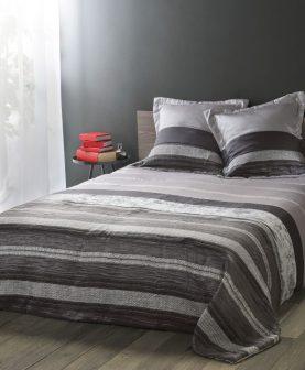 cuvertura pat dormitor gri negru