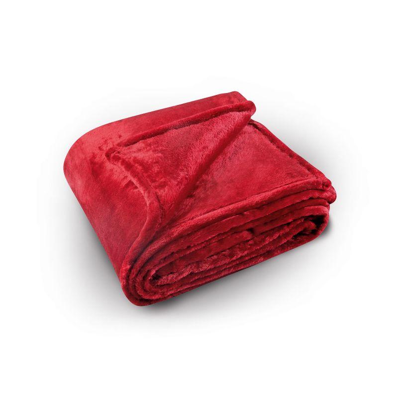 cuvertura pat rosie pufoasa 5074 col 69