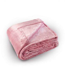 Cuvertura pat roz pufoasa