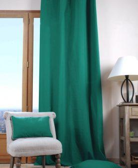 draperie verde turcoaz