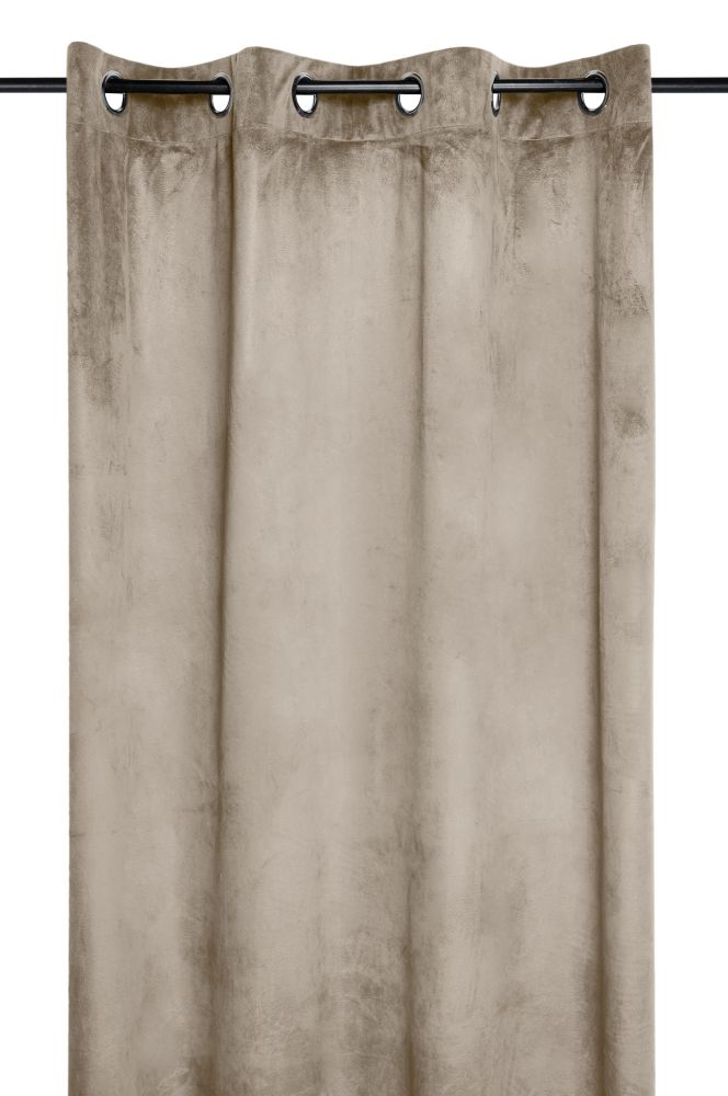 draperie catifea maro deschis Danae lin 140×260 cm