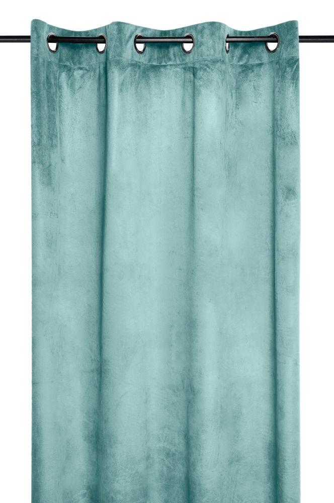 draperie catifea turcoaz Danae jade 140×260 cm