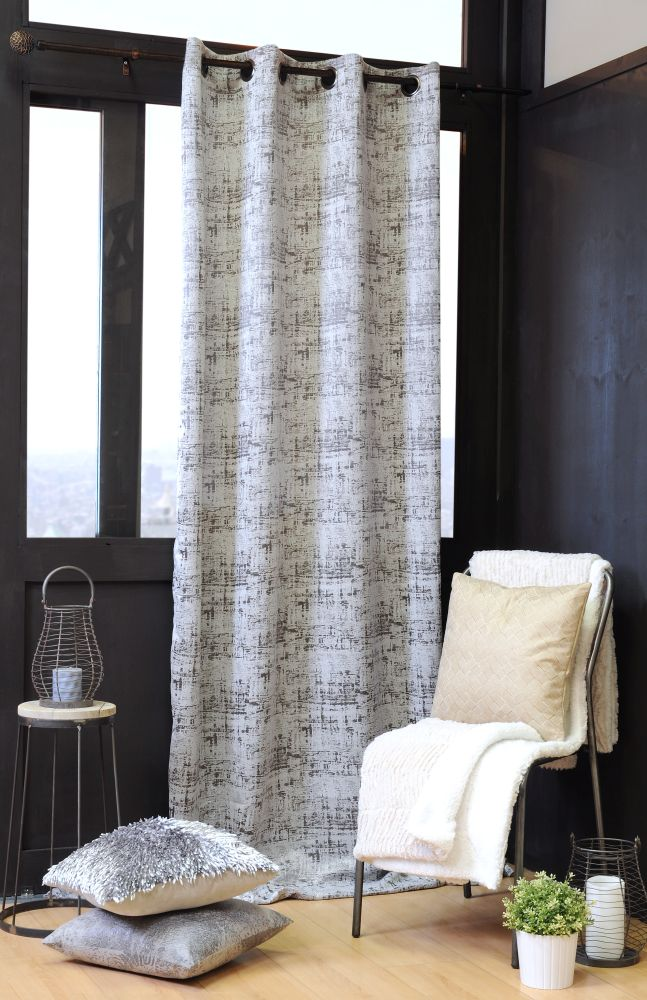 draperie dormitor moderna modeLascaux gris 140×260 cm