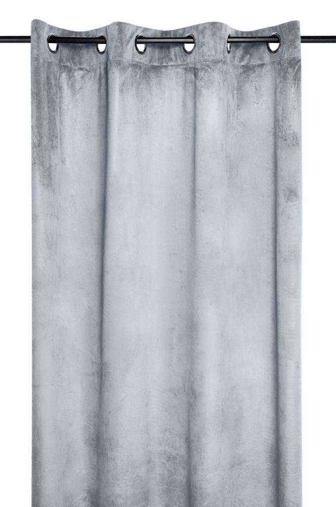 draperie gri catifea Danae perle 140×260 cm