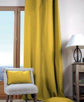 draperie confectionata galben mustar
