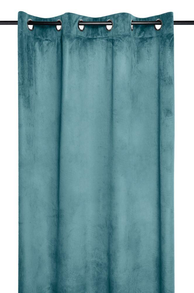 draperie turcoaz catifea Danae celadon 140×260 cm