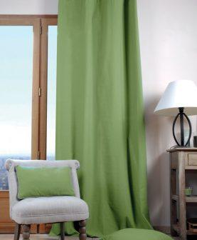 draperie verde bumbac