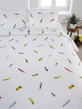 Lenjerie de pat pene colorate Tropische 200x200/220 cm