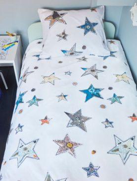 Lenjerie pat stele copii Lots of Stars 140x200/220 cm