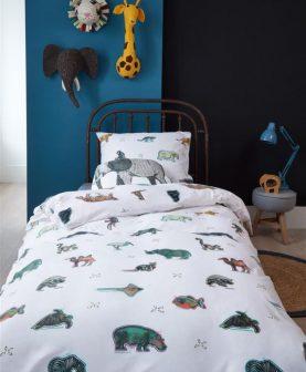 lenjerie pat copii cu animale