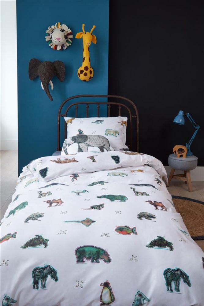 lenjerie pat cu animale Zoo