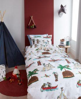 lenjerie pat copii indieni