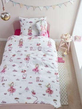 Lenjerie pat zane roz Birthday Fairy Pink 140x200/220 cm
