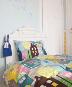 lenjerie pat colorata pentru copii