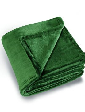 Patura verde pufoasa 5047 COCOON 130X180 cm