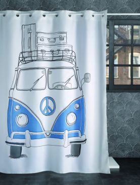 Perdea baie VW furgoneta albastra 240 180x200 cm