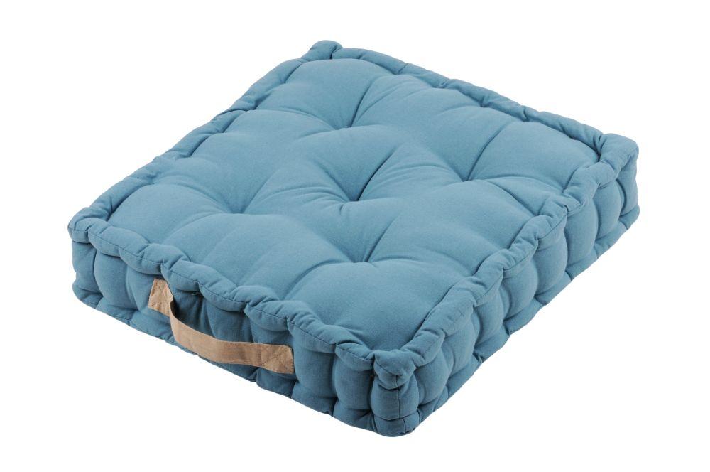perna podea albastra Duo azur lin 45x45x10 cm