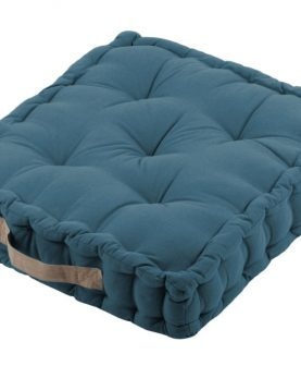 perna albastru inchis podea Duo Petrole Lin 45x45x10 cm