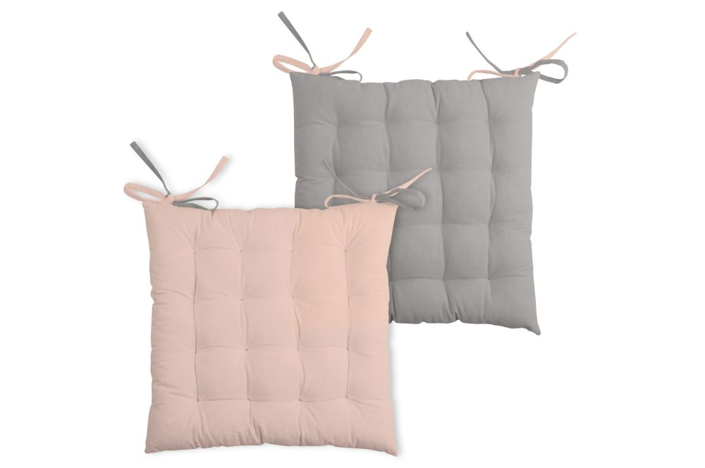 perna roz scaun capitonata Duo Poudre Souris
